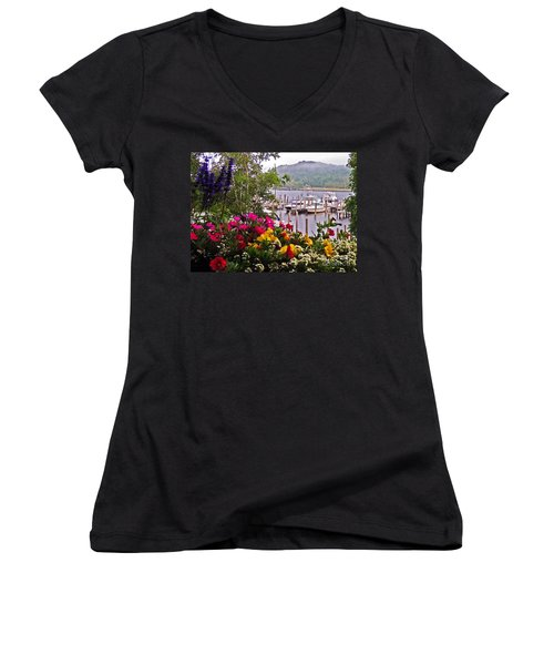 Fragrant Marina Women's V-Neck T-Shirt
