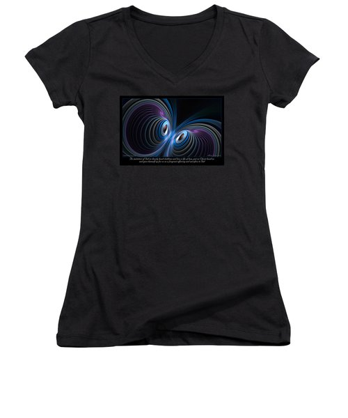 Women's V-Neck featuring the digital art Fragrant Offering by Missy Gainer