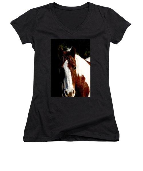 Fred Women's V-Neck T-Shirt (Junior Cut) by Anthony Jones