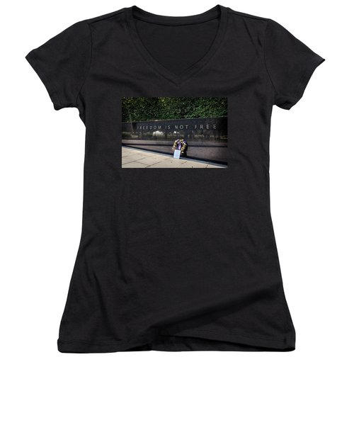Freedom Is Not Free Women's V-Neck (Athletic Fit)