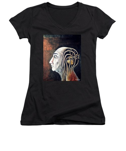 Freedom Of Compulsions Habits And Addictions Women's V-Neck (Athletic Fit)