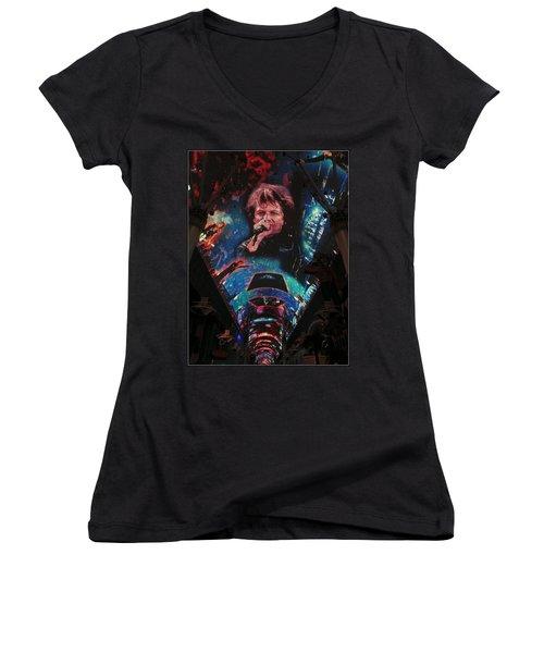 Fremont Street Experience Women's V-Neck T-Shirt