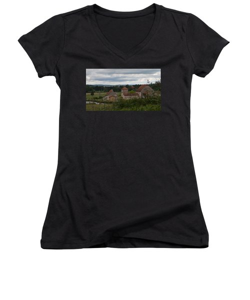 French Farm House Women's V-Neck (Athletic Fit)