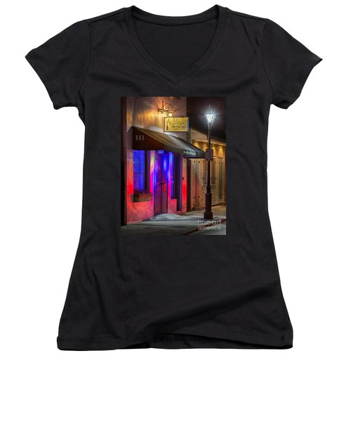 French Quarter Wedding Chapel Women's V-Neck (Athletic Fit)