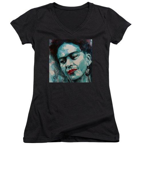 Frida Kahlo Women's V-Neck (Athletic Fit)