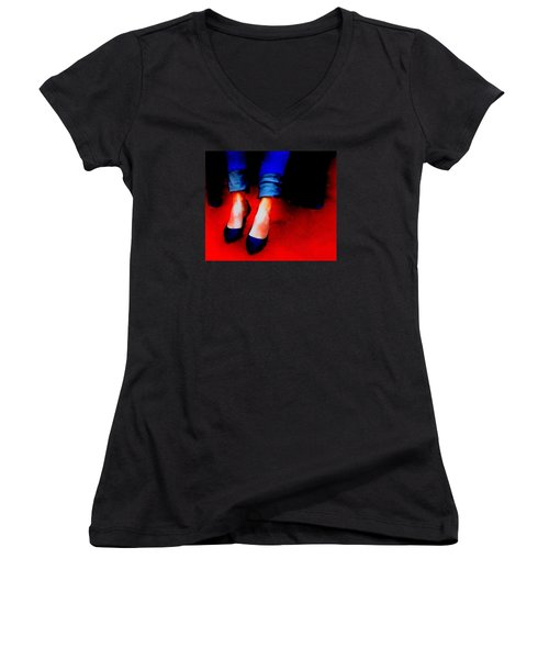 Women's V-Neck T-Shirt (Junior Cut) featuring the photograph Friday Wear by Lisa Kaiser