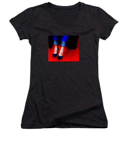 Friday Wear Women's V-Neck T-Shirt (Junior Cut) by Lisa Kaiser