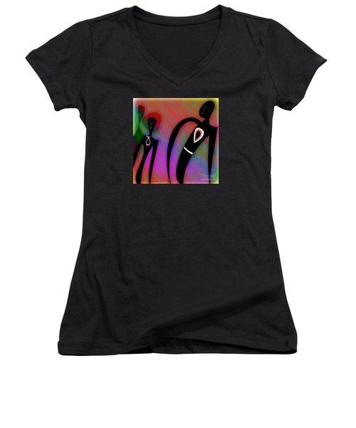 Friends Women's V-Neck T-Shirt (Junior Cut) by Iris Gelbart