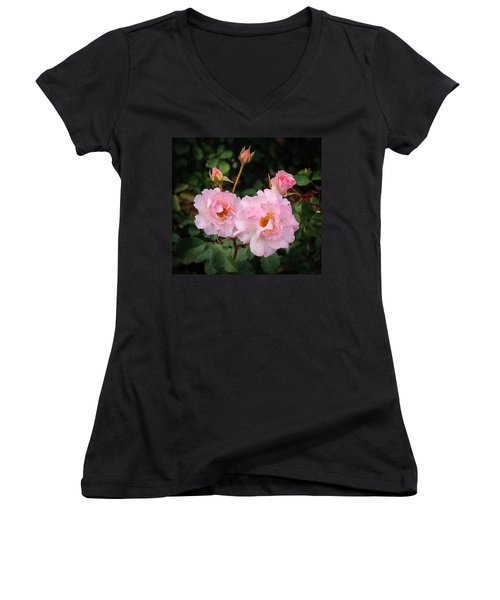 Women's V-Neck featuring the photograph Friendship by Roxy Hurtubise