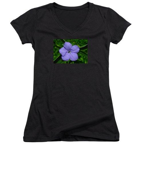 Wild Fringeleaf Ruellia Women's V-Neck T-Shirt (Junior Cut)