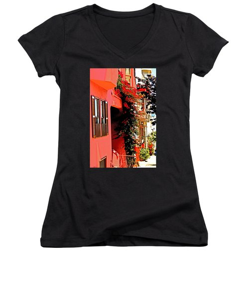 Frisco Street Flowers Women's V-Neck