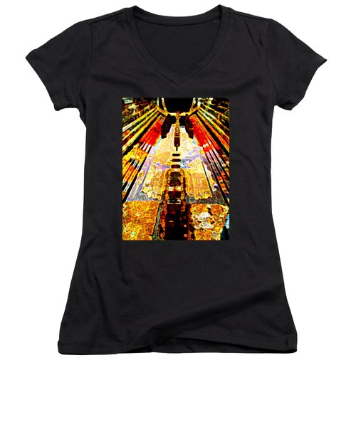 Fritz Lang's Metropolis Yet Stands Women's V-Neck (Athletic Fit)