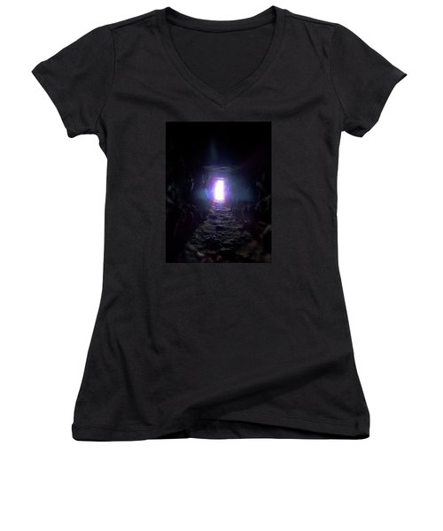 From Dark To Bright Women's V-Neck T-Shirt (Junior Cut) by Marc Philippe Joly