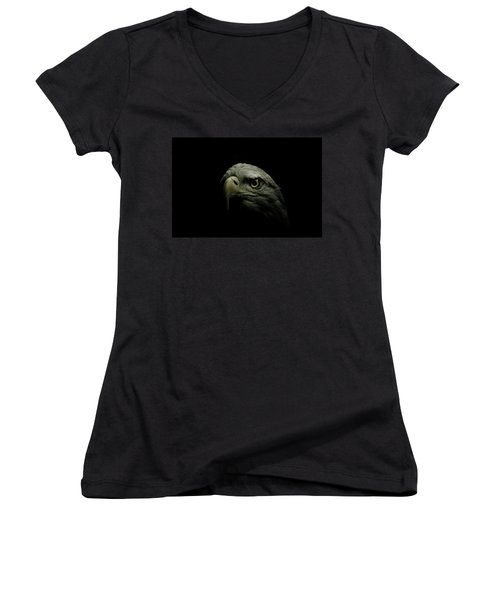 From The Shadows Women's V-Neck T-Shirt (Junior Cut) by Shane Holsclaw