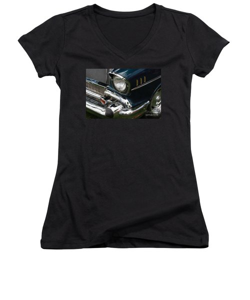Front Side Of A Classic Car Women's V-Neck