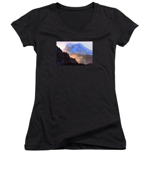 Frozen - Torres Del Paine National Park Women's V-Neck (Athletic Fit)