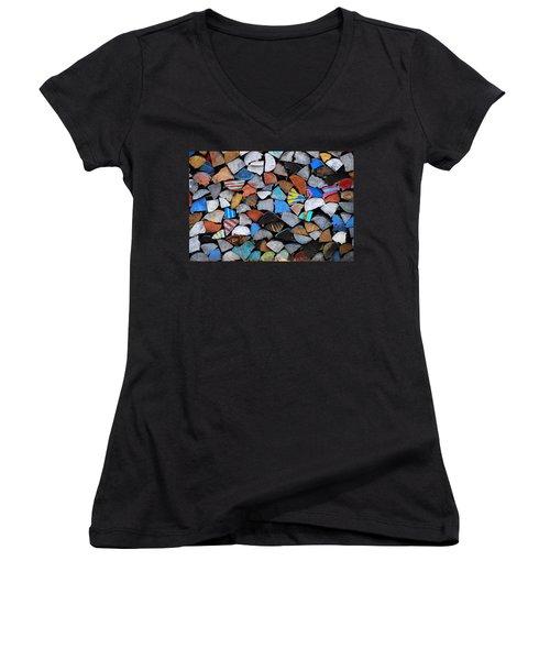 Full Cord Women's V-Neck T-Shirt (Junior Cut) by John Schneider