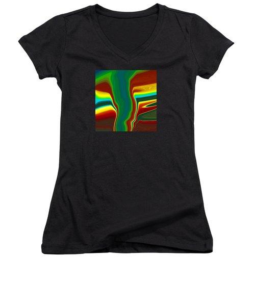 Funnel Cloud  C2014 Women's V-Neck T-Shirt (Junior Cut) by Paul Ashby