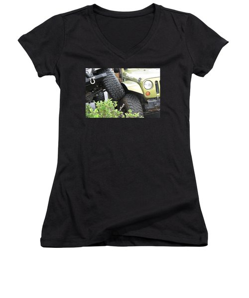 Funny Place To Park Women's V-Neck T-Shirt