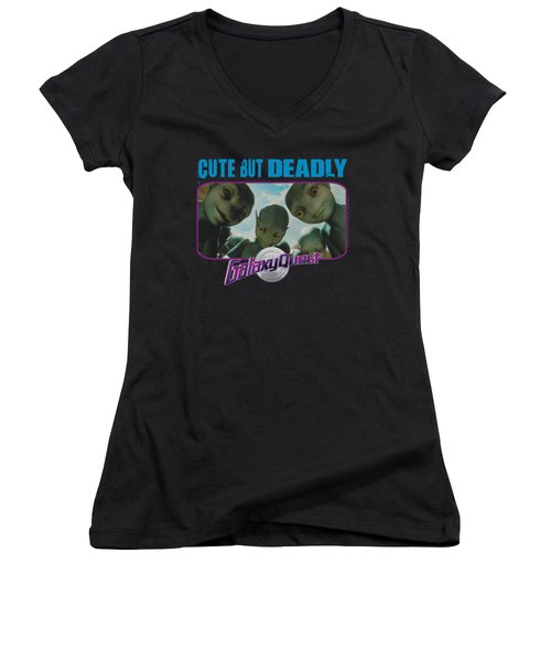 Galaxy Quest - Cute But Deadly Women's V-Neck T-Shirt