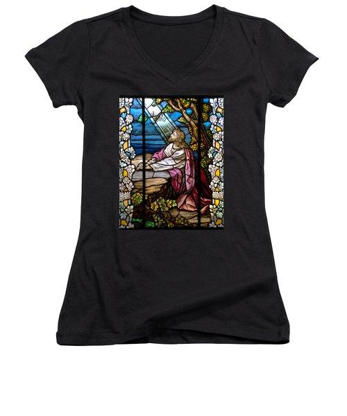 Garden Of Gethsemane Women's V-Neck T-Shirt