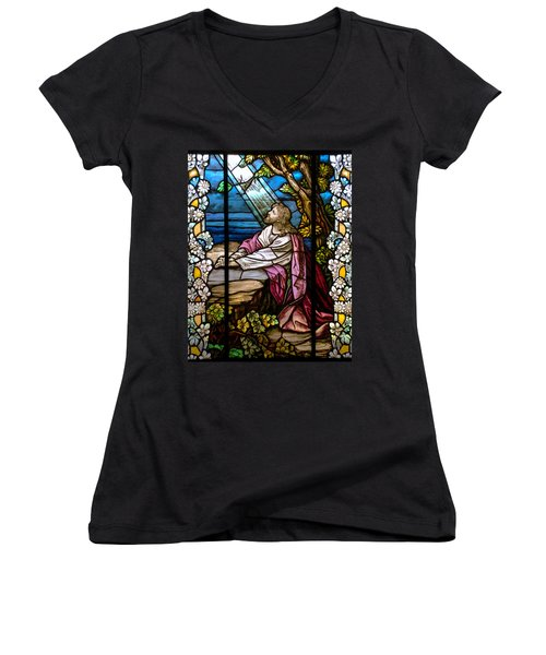 Garden Of Gethsemane Women's V-Neck (Athletic Fit)