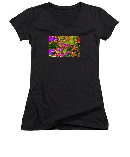 Garden Of Color Women's V-Neck T-Shirt