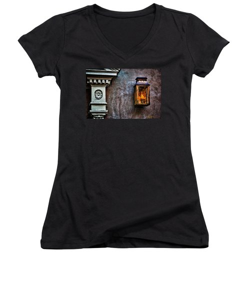 Gas Lantern Women's V-Neck T-Shirt (Junior Cut) by Renee Sullivan