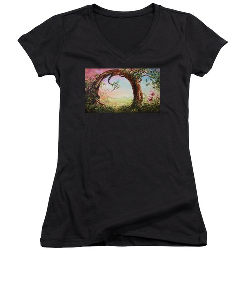 Gate Of Illusion Women's V-Neck