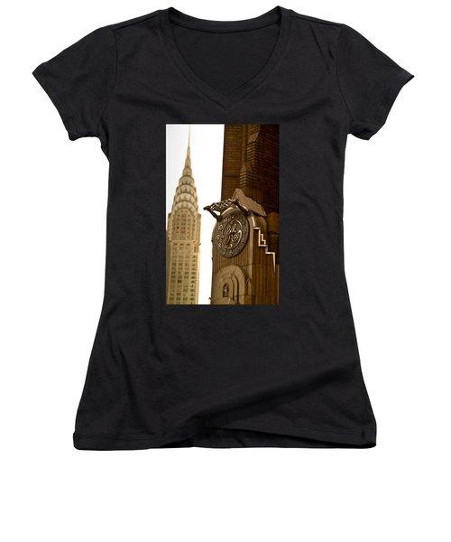 General Electric Building 1 Women's V-Neck T-Shirt