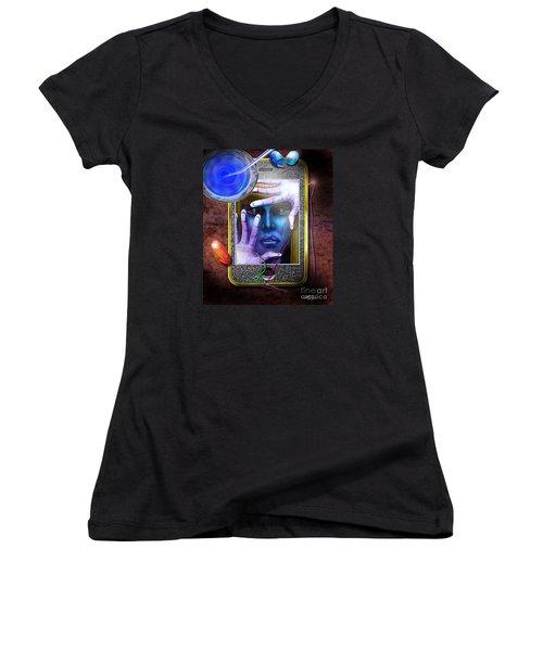 Generation Blu - The Blu Pill Makes Kool Aid Women's V-Neck T-Shirt