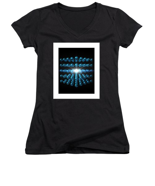 Women's V-Neck T-Shirt (Junior Cut) featuring the digital art Genesis... by Tim Fillingim