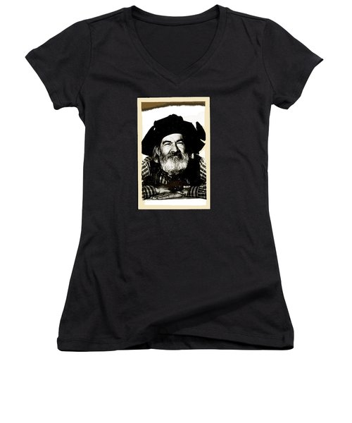 George Hayes Portrait #1 Card Women's V-Neck T-Shirt