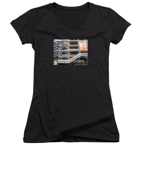 Georges Pompidou Centre Women's V-Neck (Athletic Fit)