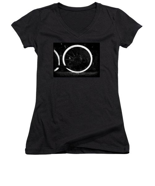 Steam Powered Women's V-Neck T-Shirt (Junior Cut) by Aaron Berg