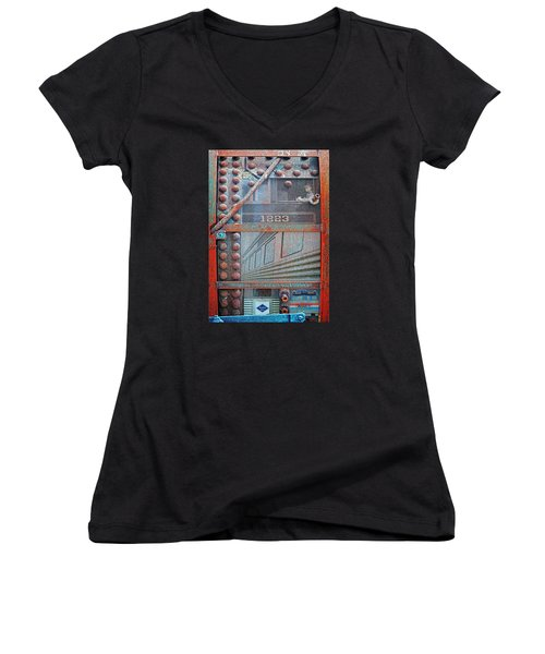 Ghosts Of The Railroad Women's V-Neck T-Shirt