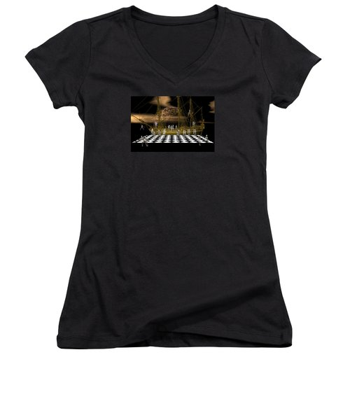 Ghostship Gala 2 Women's V-Neck T-Shirt