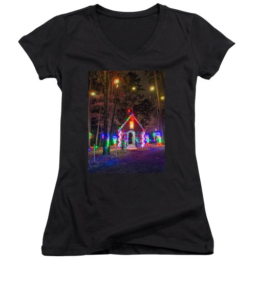 Ginger Bread House Women's V-Neck