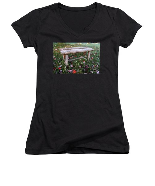 Ginny's Bench Women's V-Neck (Athletic Fit)
