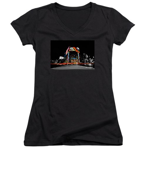 Ginza At Night Women's V-Neck (Athletic Fit)