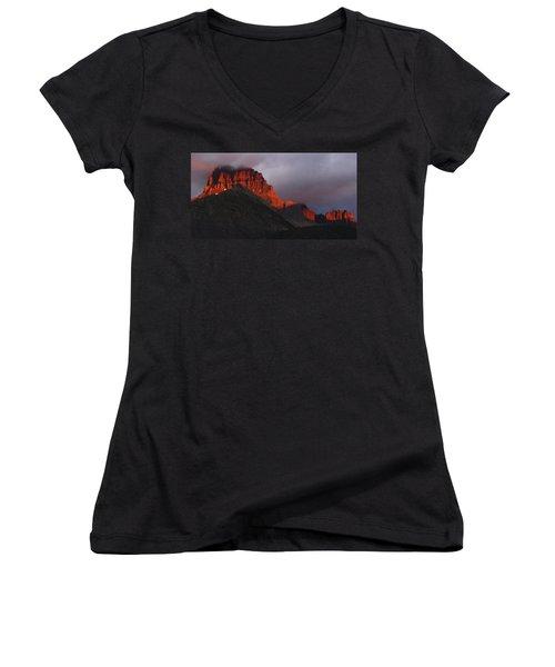 Glacier Sunrise Women's V-Neck T-Shirt