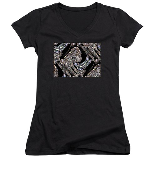 Glass Bird Women's V-Neck T-Shirt (Junior Cut) by Kristin Elmquist