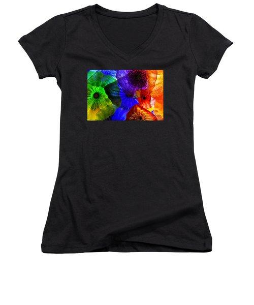 Glass Palette Women's V-Neck T-Shirt (Junior Cut) by Kasia Bitner