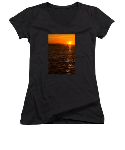 Glimmer Women's V-Neck T-Shirt (Junior Cut)