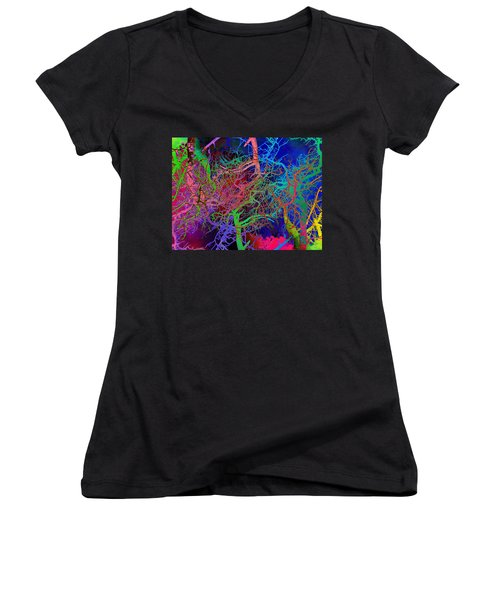 Glorious Bare Trees Women's V-Neck (Athletic Fit)