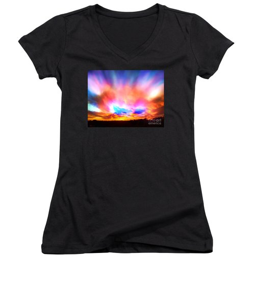 Glory Sunset Women's V-Neck (Athletic Fit)