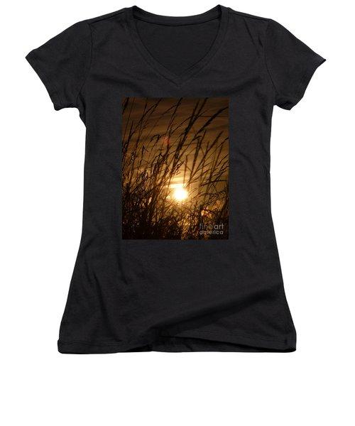 Glow Through The Grass Women's V-Neck T-Shirt
