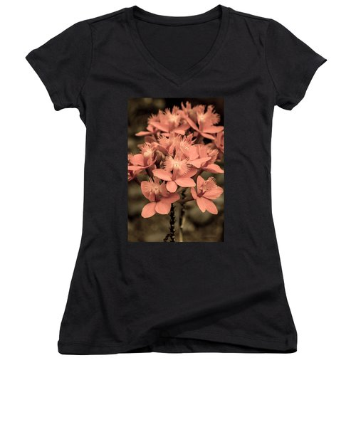 Glowing Candle Women's V-Neck T-Shirt