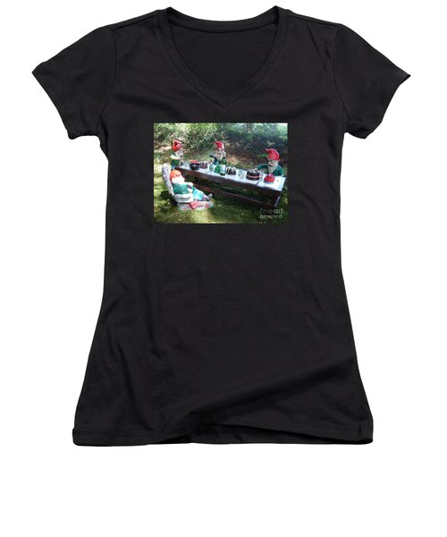 Gnome Cooking Women's V-Neck