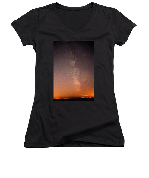 Women's V-Neck T-Shirt (Junior Cut) featuring the photograph God Did This by Robert Pearson